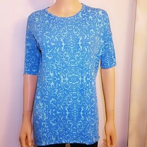 ❤ 4 for $25 ❤ Lularoe Blue Paisley Top Blouse xxs
